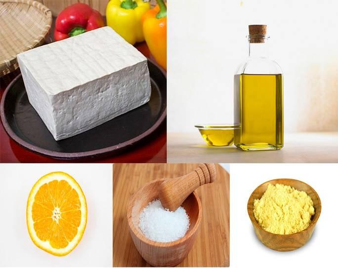 тофу лимон горчица соль
